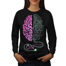 Brain Turn On Panel Funny Jumper  Women Sweatshirt - $18.99