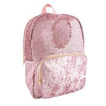 Style.Lab Fashion Angels Backpack-Pink Glitter/Velvet Pocket Magic Sequin Back P image 2