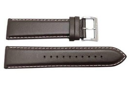 Genuine Seiko Core Series Leather  Brown 22mm Watch Band Strap L00F012J9 - $45.35