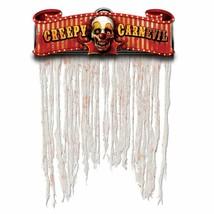 "Creepy Carnival Doorway Curtain Cardboard Sign w/Gauze (54"" x 38"") - $11.39"