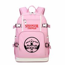 Stranger Things Kid Backpack Schoolbag Bookbag Daypack Pink Large Bag F - $51.97 CAD