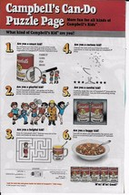 Vintage 1989 Campbell's Soup Print Ad Can-Do Puzzle Page advertisement K... - $7.99