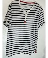 HUBLOT Striped Nautical T-shirt Navy/white Red Size XXL - $28.04