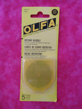 Rotary Cutting OLFA Package of 5 Blades 45mm cut fabric with a rotary cu... - $38.99