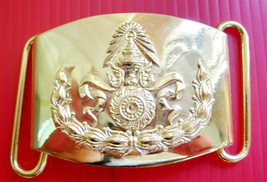 Gold color Royal Thai Army belt buckle Soldier Thailand Military - $14.03