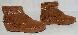 I Love Yo Kids AVA 78K Girls Fringe Boot Rust Silver Studded Size 4 image 3