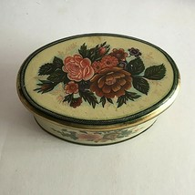 """Vintage Meister Made in Brazil Empty Tin Can 6"""" Oval by 2.5""""  - $11.63"""