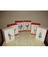 Hallmark Twelve Days Of Christmas Series Lot Of 6 #1, 3, 4, 6, 7, 8 Orna... - $158.99