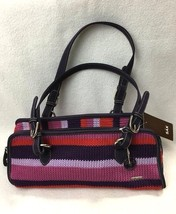 NEW The Sak Modern Classics Crochet Triangle Barrel Bag Plum Purple Red ... - $430,21 MXN