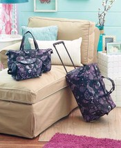 Luggage Set Black Paisley Suitcase Rolling Spinner Duffel Lightweight Wh... - $33.89