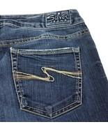 Silver Aiko Dark Wash Boot Cut Low Rise Stretch Jeans Womens 29 Hemmed 2... - $24.56