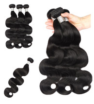Human Hair Extension Natural Black Color Peruvian Body Wave 8-26 inches ... - $19.94+