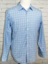 Michael Kors Men's Button Down Shirt Blue/White Plaid 100% Cotton XL Car... - €25,50 EUR