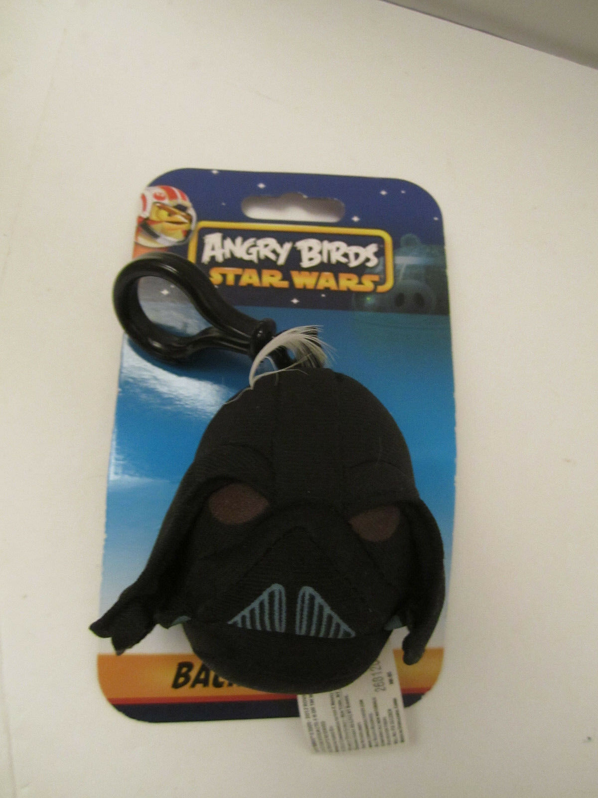 Angry Bird Star Wars Plush Stormtrooper Pig + Darth Vader Clip NM PRE-OWNED image 3