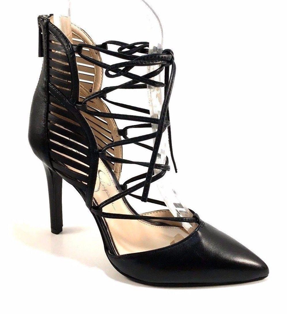 f056046e5d4 Jessica Simpson Cynessa Black Leather Lace and 39 similar items