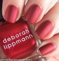 New! Deborah Lippmann Limited Edition Silk Matteen Nail Polish, Red Silk Boxers - $9.99