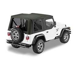 Bestop 79129-35 Black Diamond Sailcloth Replace-A-Top Soft Top with Tinted Windo