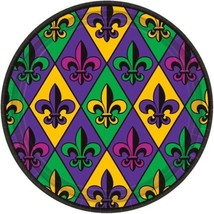 "Fleur De Lis 18 ct Paper 9"" Lunch Plates Value Size Mardi Gras - $8.16"