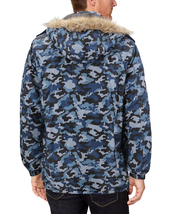 Men's Heavy Weight Winter Coat Removable Faux Fur Trim Hood Puffer Parka Jacket image 9