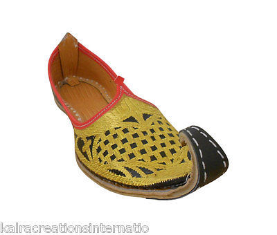 07e277f1c1f82 1. 1. Previous. Jutti Men Shoes Aladdin Flip-Flops Indian Mojaries Handmade  Khussa US 12