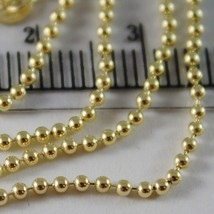 18K YELLOW GOLD CHAIN MINI BALLS BALL SPHERES 1.5 MM, 23.60 INCH, MADE IN ITALY image 2