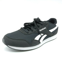 Reebok Womens Classic Jogger Sneaker Black White Cushioned Insole Sz 7.5... - $35.76