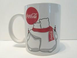 Enjoy Coca Cola Polar Bears White Coffee Mug Holiday Christmas Fun Uniqu... - $17.69