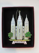 Mormon Temple Ornament Salt Lake City Utah Brass Souvenir Gift  - $18.95