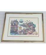 Hand Signed Amram Ebgi City of Jaffa 168/950 Embossed Judaica Art Litho ... - $833.49