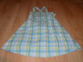 Girls Size 4 Gymboree Rainbow Sherbet Blue Green Plaid Sundress Sun Dress EUC - $14.00