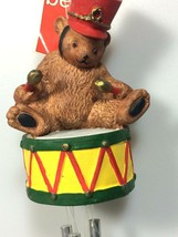 Department 56 Christmas wind chimes Christmas bear drummer decoration  - $31.95