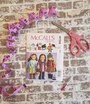 """McCall's Crafts PATTERN M7006 size 0SZ complete 18"""" American Girl Doll wardrobe! - $12.00"""