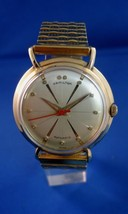 "Hamilton Wristwatch K 454 ""Sputnik"" Automatic  with Red Second Hand extra clean - $1,150.00"