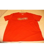 REEBOK Men's Red Orange Athletic Quick Dry Workout T Shirt EUC Size XL - $6.19