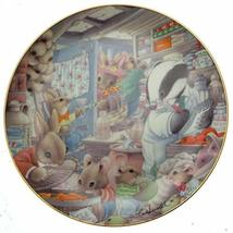 Danbury Mint Mouse Plate - Tales from The Undergrowth - Shopping Spree -... - $36.95
