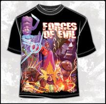 Marvel Comics Villains Forces of Evil Collage Body Print T-Shirt, NEW UN... - $14.50