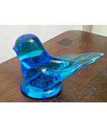 1987 Vintage Signed Leo Ward Bluebird of Happiness Glass Figurine Paperw... - $9.50