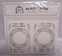 Chilewich Tented Place Cards Brand New Sealed 12 In Package - $9.89