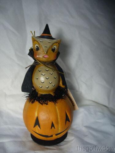Bethany Lowe Hoot Owl on Jack O Lantern Halloween Piece