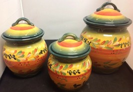 La Province by Tabletops Unlimited 3 pc. Canister Set - Excellent condition - $48.38