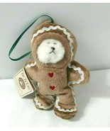 Boyds Bears Plush Ornament LIL GINGER Gingerbread Heirloom Series New w Tag - $39.10