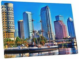 "Pingo World 0706QZWIQHY ""Tampa Bay Skyline"" Gallery Wrapped Canvas Wall Art, 30"" - $57.37"