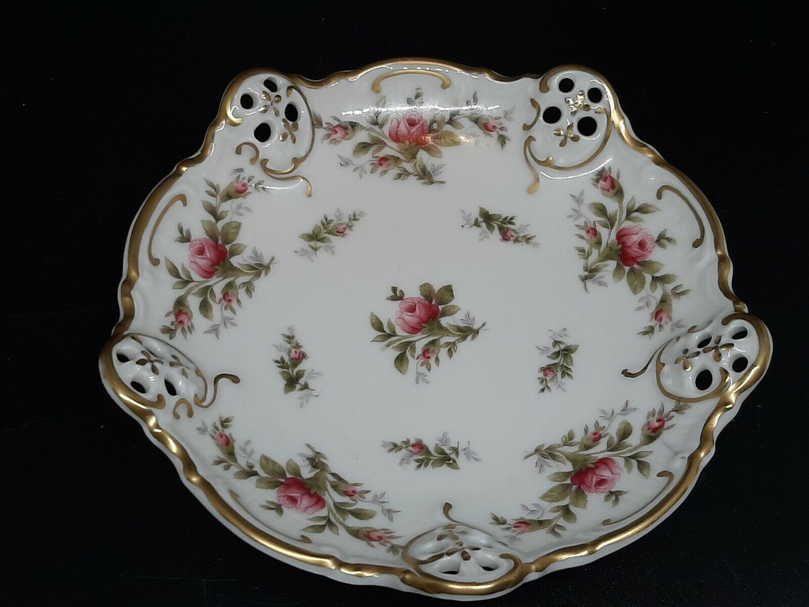 """Rosenthal moss rose nut dish excellent condition no gold loss 5"""" - $20.00"""
