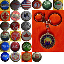 Constellation Cancer Crab icon Coke Sprite Pepsi & more Soda beer cap Keychain