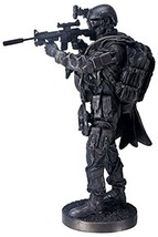 12.5 Inch Black Navy Seals Figurine Standing with Rifle and Full Gear - $76.22