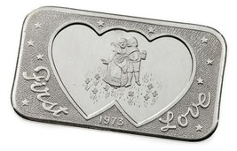 1973 Mutter Lode Ungebraucht 1 Oz. Silber Kunst Barren Erste Liebe (8 Bl... - $54.45
