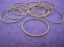 20pc 18mm antique bronze smooth metal ring-970 - $1.50