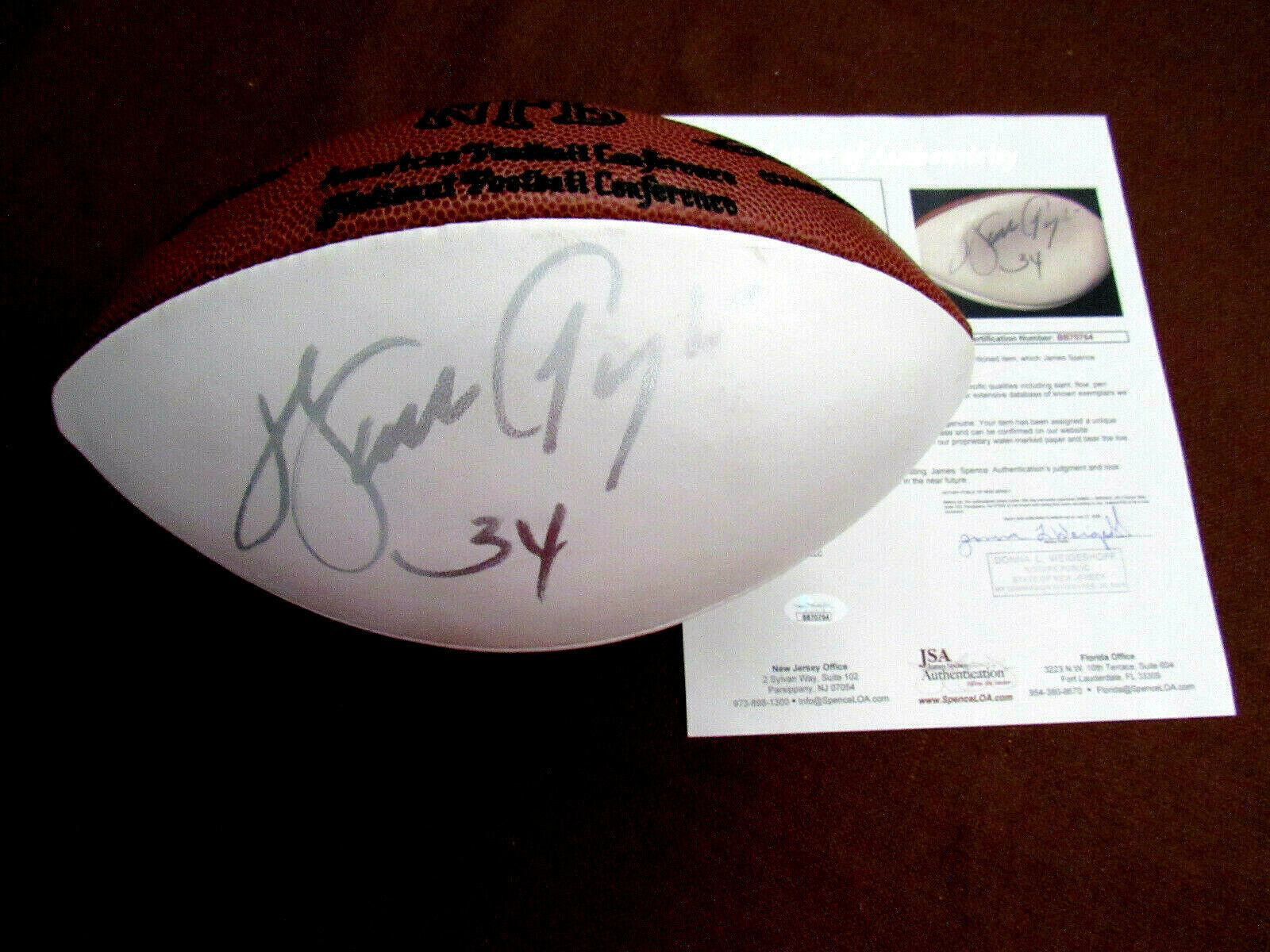 Primary image for WALTER PAYTON CHICAGO BEARS HOF SIGNED AUTO WILSON PETE ROZELLE FOOTBALL JSA BAS