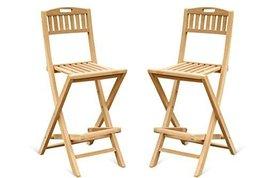 "Windsor's Genuine Grade A Teak Folding Counter Chair(5"" Lower then Bar) ... - $700.00"