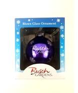 Busch Gardens Blown Glass Christmas Ornament Seaworld Parks Ornament Pur... - $14.01